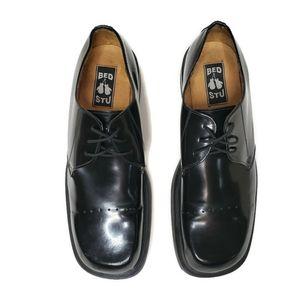 Bed Stu size 46 12 patent leather black tie oxford